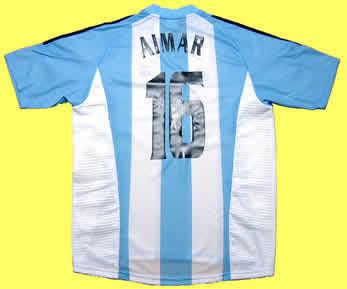 アルゼンチン代表04-05ホームアイマール サイン入り 後ろ