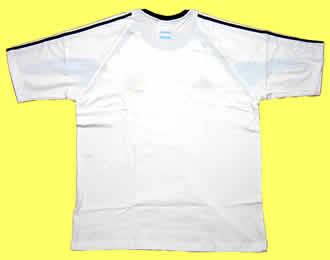 アルゼンチン代表04-05トレーニングシャツ白 後ろ