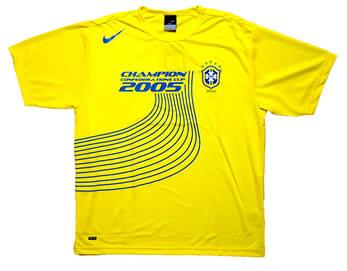 ブラジル代表2005コンフェデレーションズカップ優勝記念T−シャツ 正面