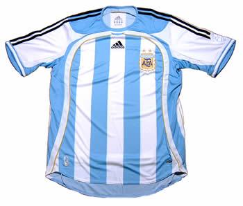 アルゼンチン代表06-07ホーム 正面から