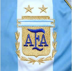 アルゼンチン代表06-07ホーム リケルメ エンブレム拡大