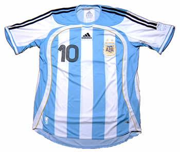 アルゼンチン代表06-07ホーム リケルメ 右胸にも10番