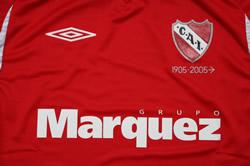 インデペンディエンテ2007ホーム スポンサーMarquez Grupo