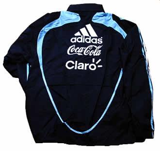 アルゼンチン代表08-09レイン・ジャケット 後にもスポンサー付き