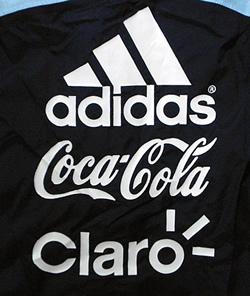 アルゼンチン代表08-09レイン・ジャケット スポンサー各社