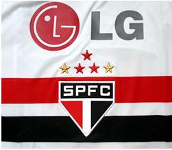 サンパウロFC09-10ホーム スポンサー LGは韓国のLG電子株式会社